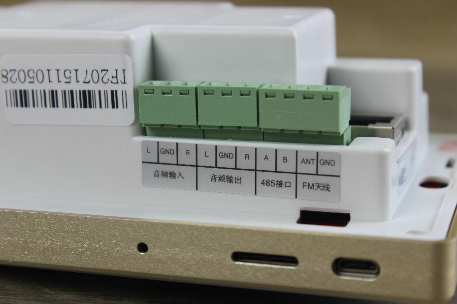 音频输入输出及485等接线端子